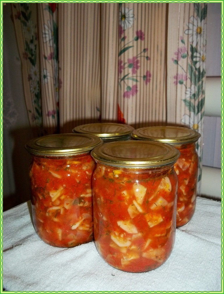Рецепты салатов на зиму.