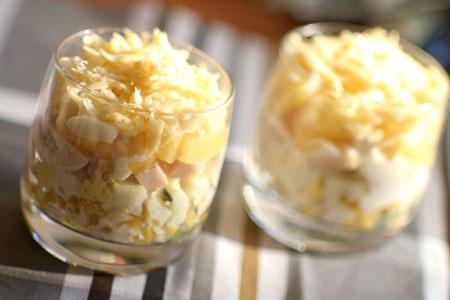 Салат ананас рецепт с ветчиной с грецкими орехами