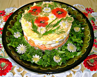 рецепты салатов из овощей с маслом с фото