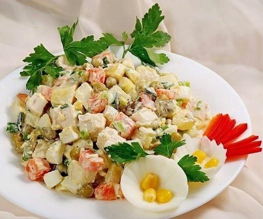 Столичный салат рецепт с курицей