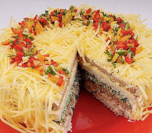 Праздничные закусочные торты рецепты с фото